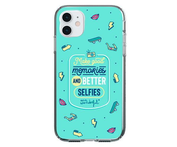 Carcasa - funda trasera TPU Selfies Iphone 12 Pro Max Mr Wonderful con licencia