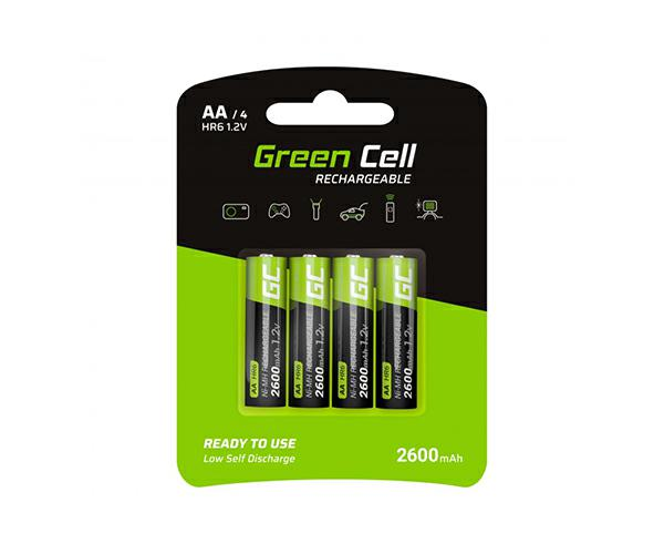 Pilas recargables Greencell aa 2600 mah (4 pcs)