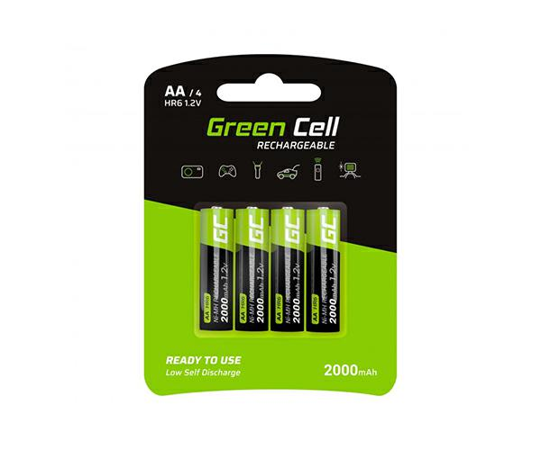 Pilas recargables Greencell aa 2000 mah (4 pcs)