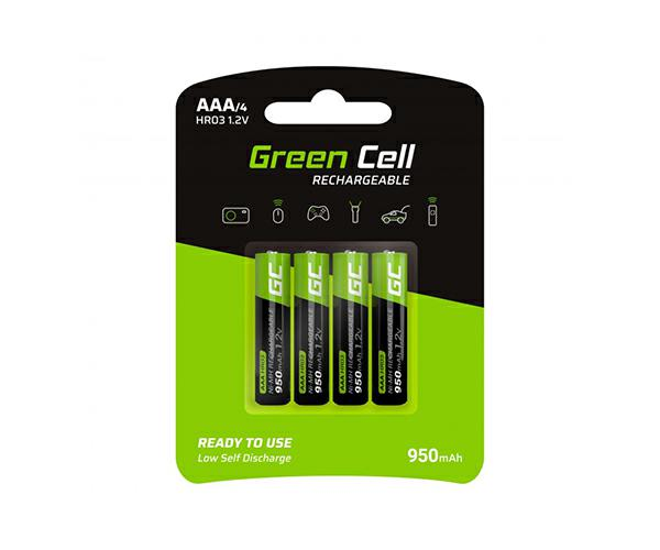 Pilas recargables Greencell aaa 950 mah (4 pcs)