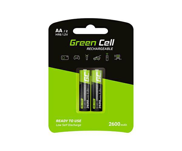 Pilas recargables Greencell aa 2600 mah (2 pcs)