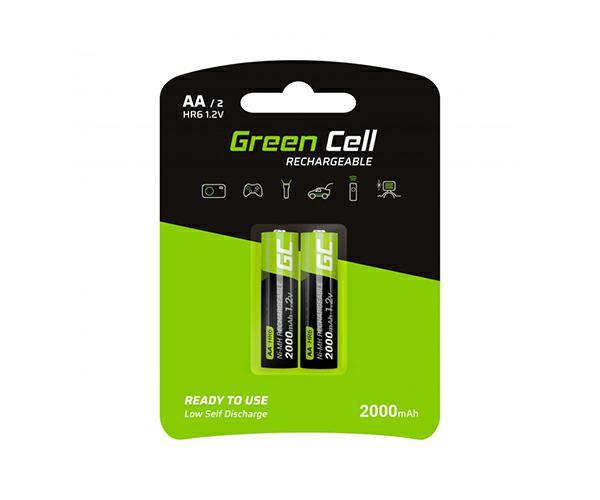 Pilas recargables Greencell aa 2000 mah (2 pcs)