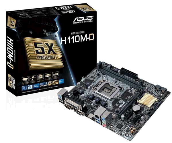 PLACA BASE 1151 ASUS H110M-D MATX - DDR4 - USB 3.0 - HDMI