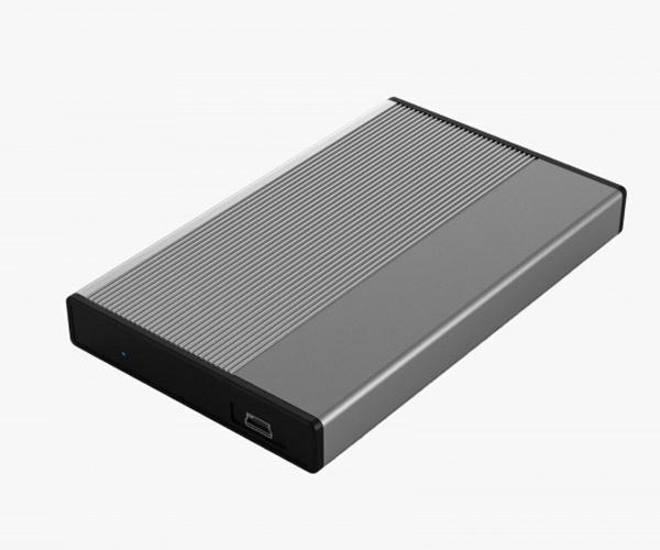 Caja externa 2.5 USB 2.0 - Sata - Aluminio 3Go - Gris