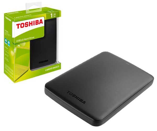 Disco duro externo Toshiba Canvio basics - 1tb - 2.5 - USB 3.0 - negro mate