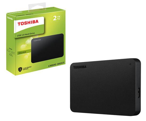 Disco duro externo Toshiba Canvio basics - 2tb - 2.5 - USB 3.0 - negro mate