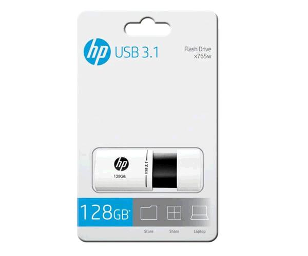 Pendrive Hp X765w 128Gb USB 3.1 - Blanco-Negro