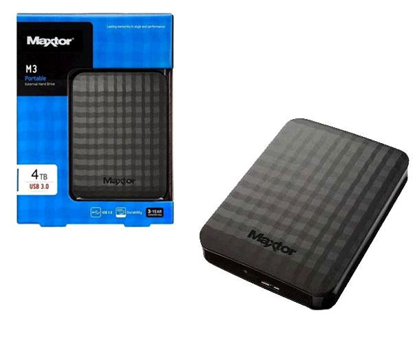 Disco duro externo Maxtor m3 4tb 2.5 - USB 3.0 - hx-m401tcb-gm