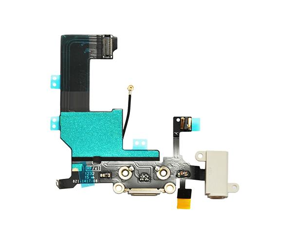 Flex conector carga iPhone 5 blanco