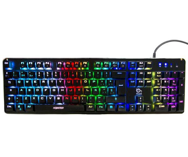 Teclado gaming Talius kimera mecanico - RGB - switch kailh blue