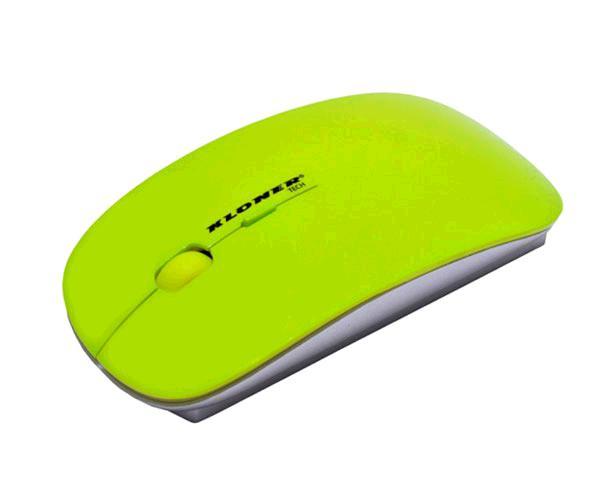 RATON USB CRISTAL SLIM VERDE KLONER