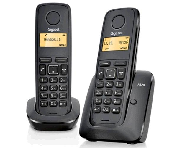 Telefono inalámbrico Duo dect digital gigaset a170 - negro - L36852-h2802-d201