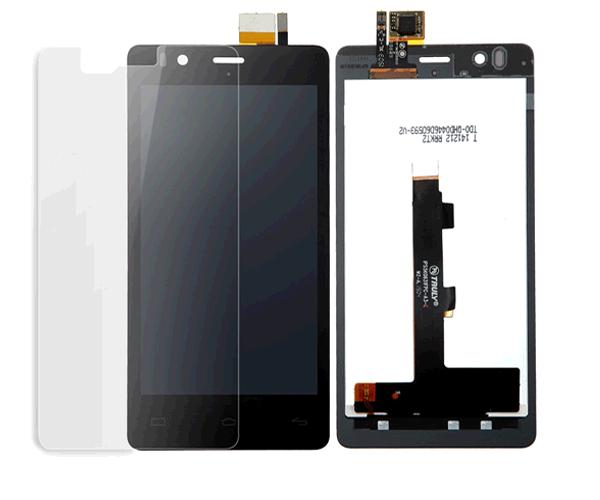 Pantalla movil táctil + LCD bq aquaris e4 negra