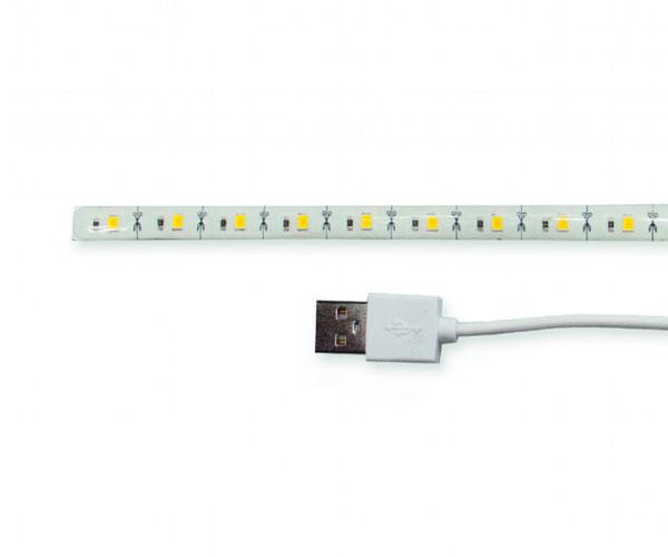 Tira Led Usb 30cm Blanco calido - Gembird - Led-su-ww30-01