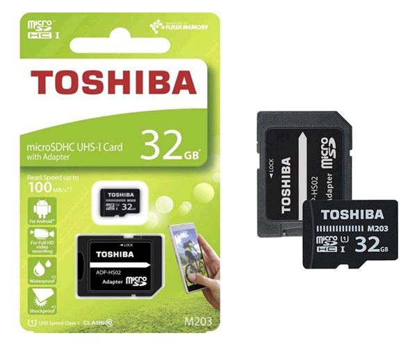 MICRO SD TOSHIBA 32GB UHS-I M203 CLASE 10 CON ADAPTADOR - THN-M203K0320EA