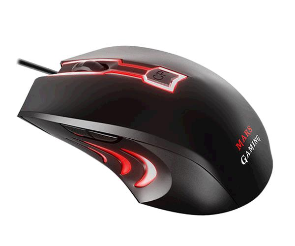 RATON MARS GAMING MAM0 - USB - 2800 DPI - 6 BOTONES - GAMING 7 COLORES RGB FLOW