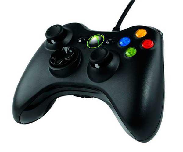Mando Xbox 360 - PC con cable negro compatible