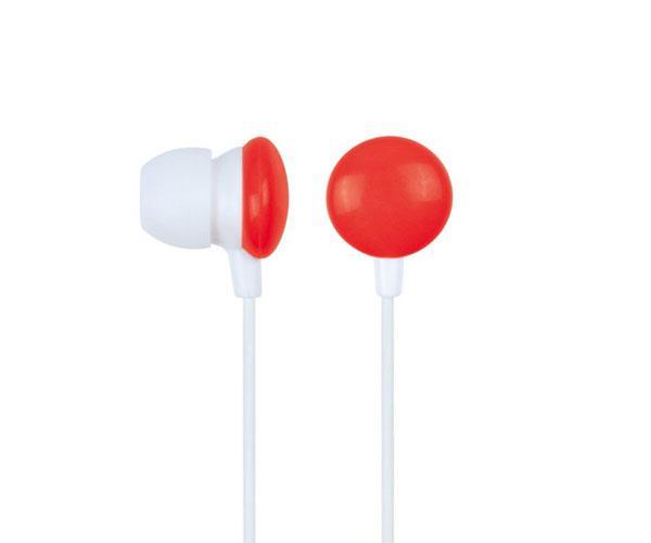 Auricular ear-in silicona rojo