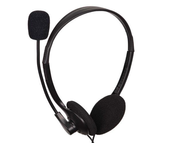 Auriculares diadema Gembird Mhs-123 - Micro integrado - Jack 3.5mm - negro