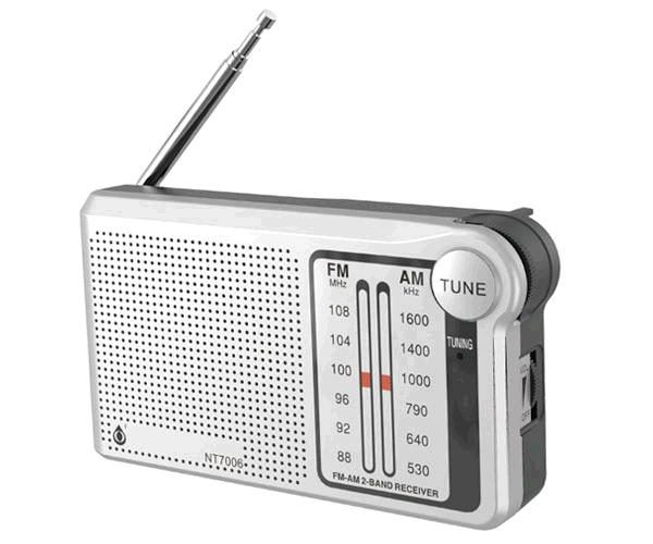 Radio portatil Am-Fm con Antena Nt7006 - Altavoz externo - Jack 3.5mm - Plata - One+