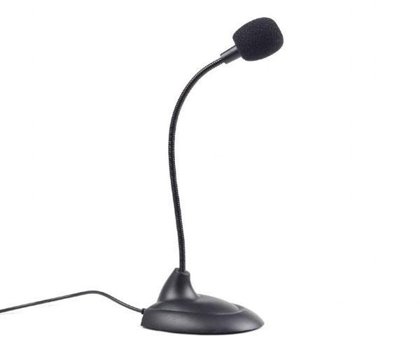 Microfono de sobremesa Gembird - Jack 3.5mm - cable 2m - Negro
