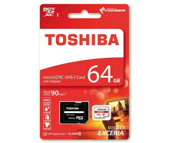 MICROSD XC UHS-I TOSHIBA EXCERIA M302-EA 64GB C10 CON ADAPTADOR