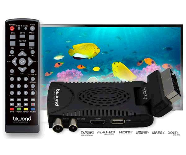 TDT MINI SCART HD DVB-T2 - HDMI - REPRODUCTOR USB