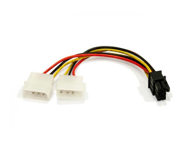 Cable molex gráfica 2x5.25 a 6 pin pci-e - cc-psu-6