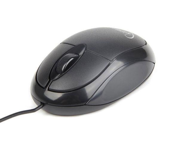 Raton óptico USB Gembird 1000 dpi - negro - ambidiestro