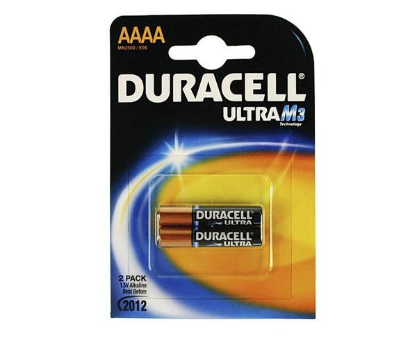 Pilas Duracell Ultra alcalinas AAAA 1.5v (2 unid.)