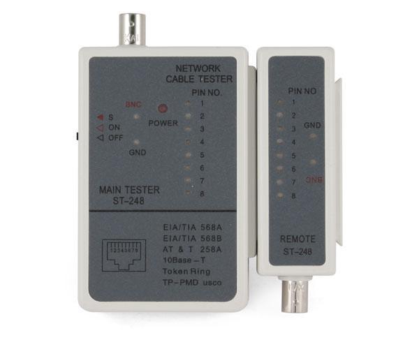 Tester para cable RJ45 y rg588
