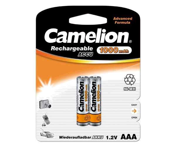 PILAS RECARGABLES CAMELION AAA 1000 MAH (2 PCS)