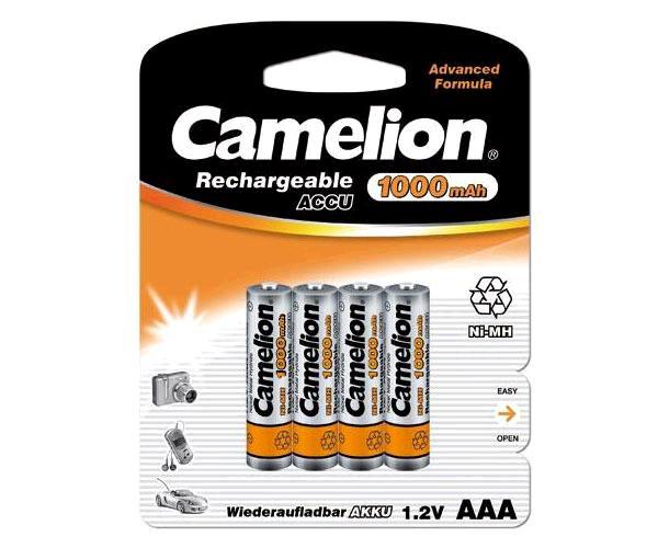 PILAS RECARGABLES CAMELION AAA 1000 MAH (4 PCS)