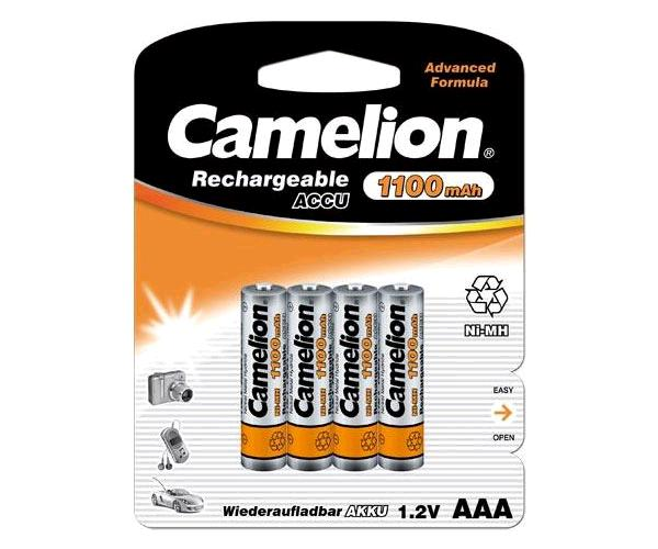 Pilas recargables camelion aaa 1100 mah (4 pcs)