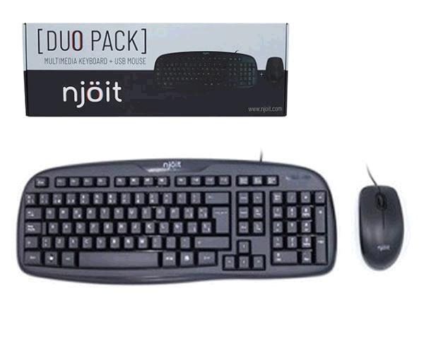 Combo teclado + raton USB Njoit multimedia negro - njkeymouse
