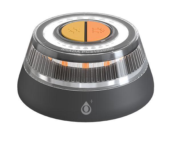 Luz de Emergencia para coches Homologada V16 - Nr9210 - Led intensivo 2 modos - Base Magnetica - Impermeable - Negro - One+