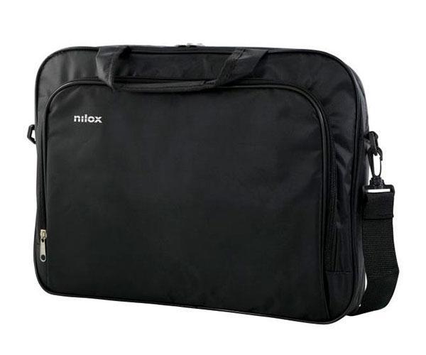 Maletin portail Nilox Essential 2 - Negro - 15.6 pulg. - Bolsillo exterior - Interior acolchado