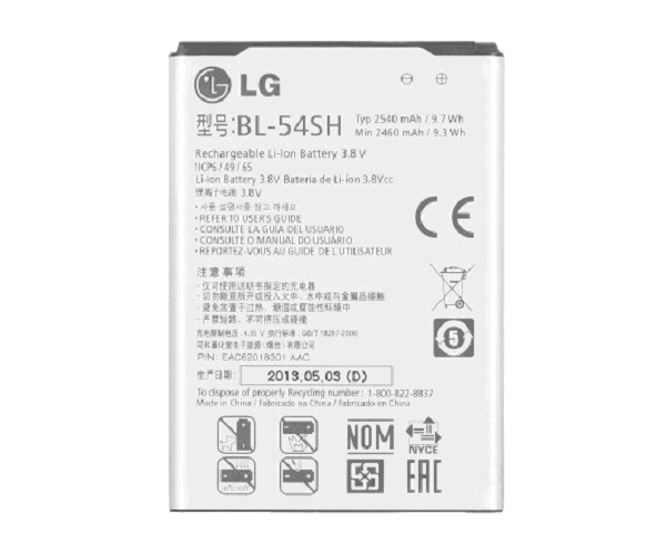 BATERIA MOVIL LG BL-54SH  G3 MINI - L80 - L90 - L BELLO