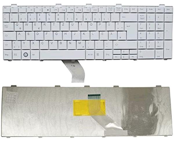 Teclado Ocasión Fujitsu lifebook a530 - ah530 - ah531 blanco alemán - pegatina castellano