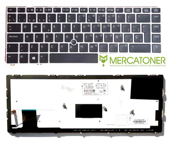 Teclado Ocasión Hp Folio 9480M - 9470M negro con marco + trackball + pegatina castellano