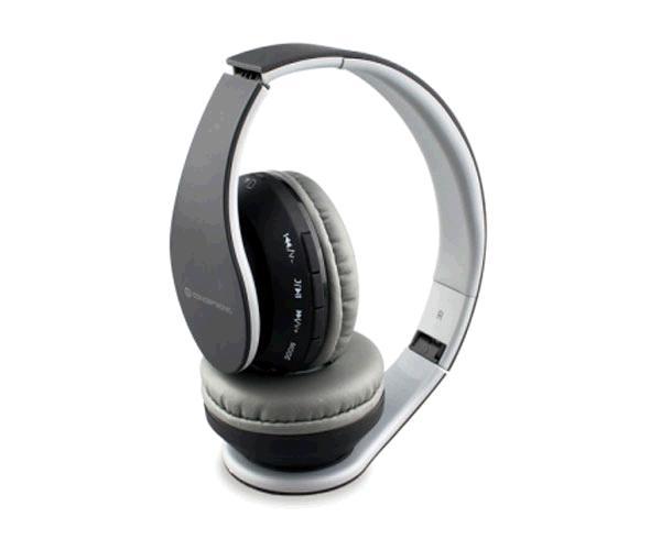 Auriculares con microfono Conceptronic Bluetooth 4.2 Parris  - Mp3 Microsd - Fm - Funcion manos libres - Negro