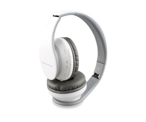 Auriculares con microfono Conceptronic Bluetooth 4.2 Parris  - Mp3 Microsd - Fm - Funcion manos libres - Blanco