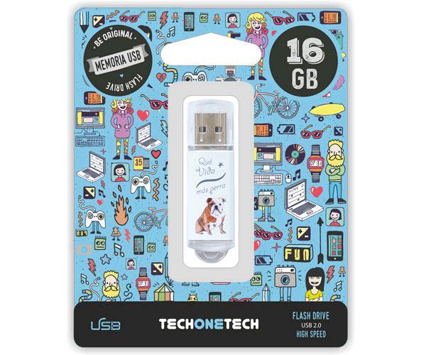 PENDRIVE ANIMADO USB 2.0 16GB - QUE VIDA MAS PERRA