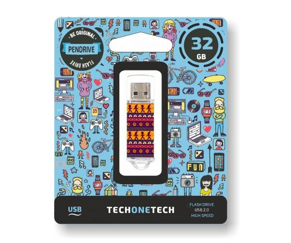 Pendrive animado USB 2.0 32Gb - Tribal Question