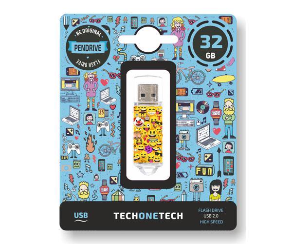 PENDRIVE ANIMADO EMOJITECH  EMOJIS USB 2.0 32GB