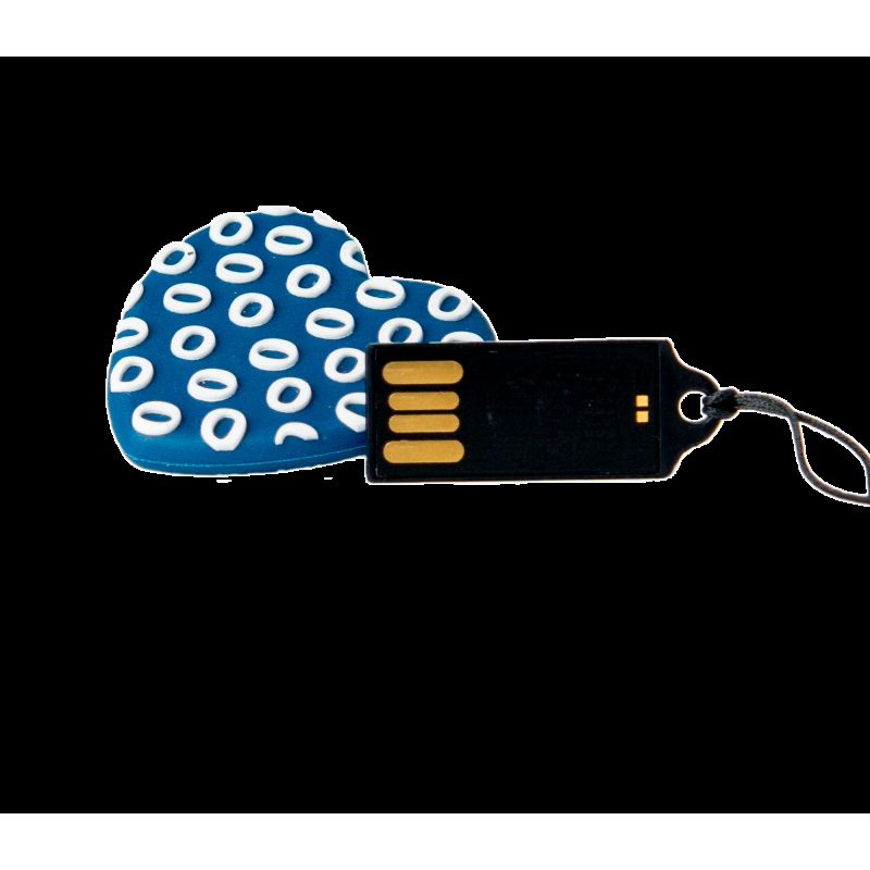 PENDRIVE ANIMADO USB 2.0 16GB - CORAZON AZUL