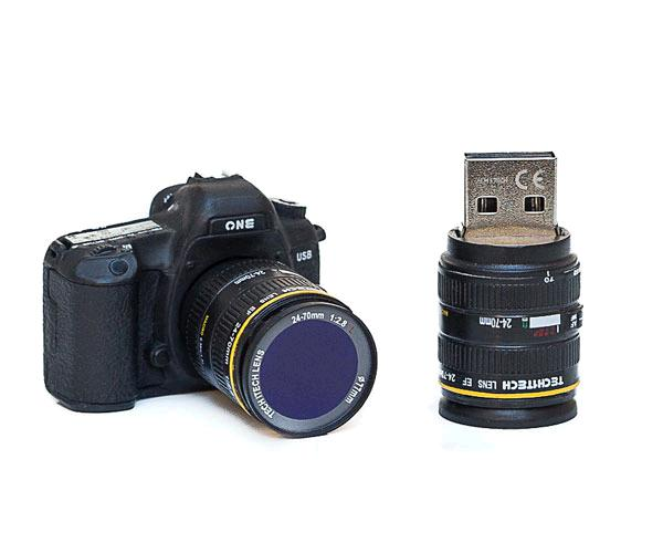 Pendrive animado USB 2.0 16Gb - camara fotos one (modelo mas grande)