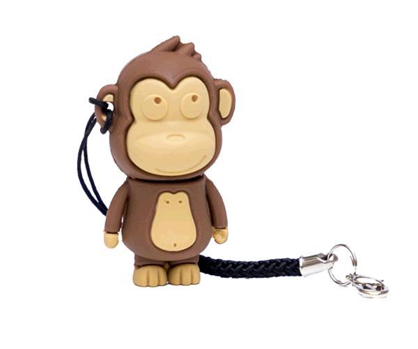 PENDRIVE ANIMADO USB 2.0 16GB - MAKAKO MONO BROWN