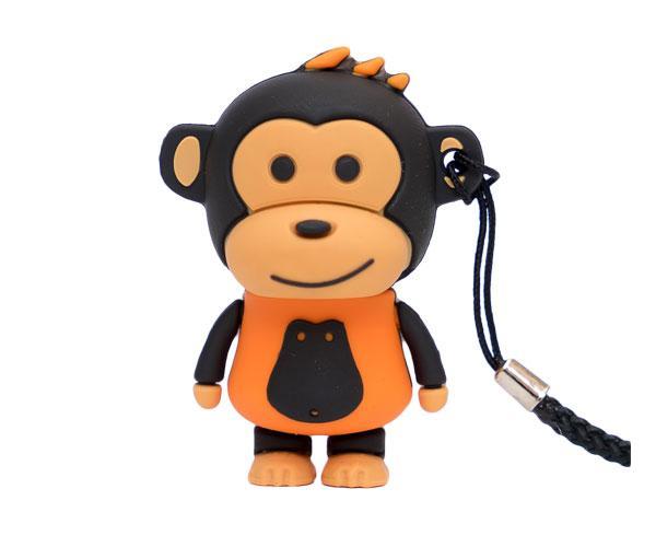 Pendrive animado USB 2.0 32Gb - mono makako naranja