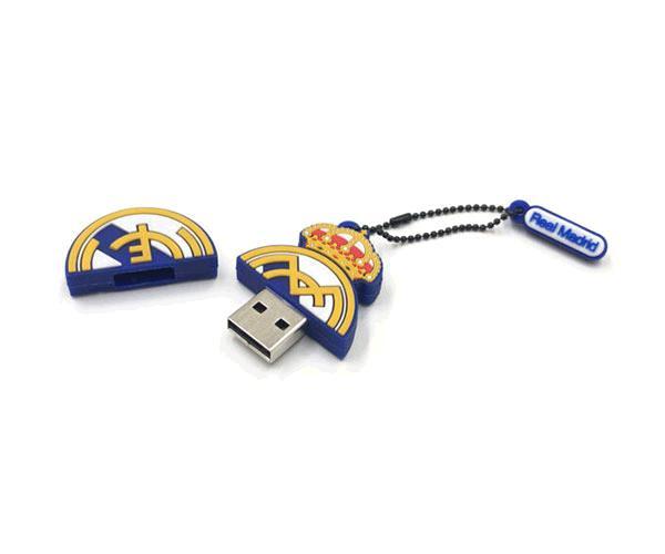 Pendrive animado 32GB  Escudo Real Madrid con licencia